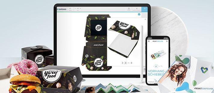 <h3>Enkel design för online print</h3><p>print-emotion.de och pack-your-food.de.</p>